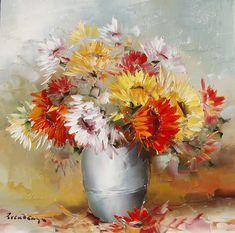 Un aranjament cuminte, ce inspiră armonie. Oil Paintings, Pretty Pictures, Paintings Of Flowers, Painting Art, Cute Pics, Cute Pictures, Oil On Canvas, Art Oil