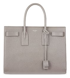 Revitalise any ensemble with Saint Laurent's iconic Sac de Jour shoulder bag. Boasting a clean-cut silhouette, smooth leather finish and spacious two-section interior, this tote will carry you effortlessly from work to weekend. Saint Laurent, Hermes Birkin, Smooth Leather, Shoulder Bag, Shopping, Medium, Random, Grey, Bag