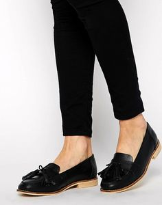 ASOS Mears Leather Loafers in black