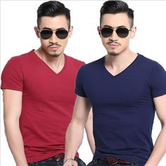 Like and Share if you want this  Men's Tops Tees Summer New solid color Casual V neck Short Sleeve t shirt Male Fashion Trends Fitness Men Bottoming T-shirt     Tag a friend who would love this!     FREE Shipping Worldwide     US $11.36    #pilates