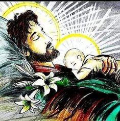 Jesus Christ Images, Jesus Art, Catholic Prayers, Catholic Art, Religious Images, Religious Art, St Joseph Catholic, Jesus Drawings, Mama Mary