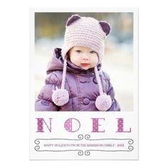 Modern Noel Holiday Photo Card / Plum by Orabella Prints. #plum #purple #holiday #christmas #fun #noel #photocards #family