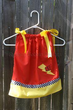 Disney Toddler Clothes Lightning McQueen Cars Pillowcase Dress. $28.95, via Etsy.