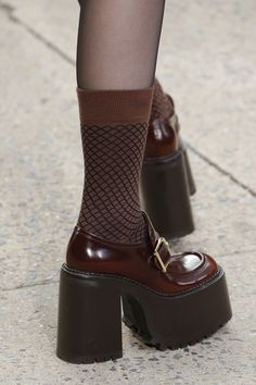 """alejandra on Twitter: """"ruth leather platform loafers by marc jacobs… """" Dr Shoes, Sock Shoes, Me Too Shoes, Shoes Heels Pumps, Aesthetic Shoes, Aesthetic Clothes, Pretty Shoes, Cute Shoes, Fashion Shoes"""