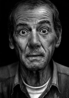 Painting by Fabiano Millani -- Pic found on Arts Backstage. Paul Cadden, Old Man Portrait, Pencil Portrait, Street Portrait, Portrait Art, Hyper Realistic Paintings, Realistic Drawings, Funniest Short Jokes, Santo Angelo