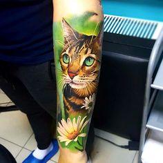 P Tattoo, Cover Tattoo, Piercing Tattoo, Pretty Tattoos, Cool Tattoos, Tattoos For Women, Tattoos For Guys, Cute Cat Tattoo, Black Cat Tattoos