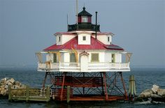 Thomas Point Shoal Lighthouse, Anne Arundel County, Maryland photo by Kevin Lawrence