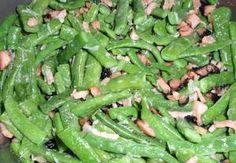 Česnekové fazolky se slaninou No Salt Recipes, Green Beans, Low Carb, Dinner, Vegetables, Cooking, Diet, Dining, Kitchen
