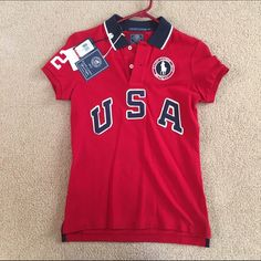 3021e0e7d Ralph Lauren Olympic Team Polo Womens Red Polo Official Outfitter US  Olympic Team. New with