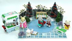 Sylvanian Families Christmas/Winter Decorated Ice Rink Set/Outdoor Scene +++ | eBay