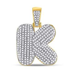 10kt Yellow Gold Mens Round Diamond Bubble K Letter Charm Pendant 3/4 Cttw Tiea Jewels Letter Charms, Initial Pendant, Diamond Settings, Gold Material, Metal Stamping, Types Of Metal, Round Diamonds, Colorful Backgrounds, Bubbles