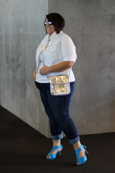Wearing fav Torrid denim rolled up!  Life & Style of Jessica Kane { a body acceptance and plus size fashion blog }