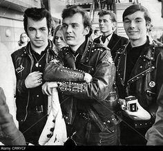 The Great Charm of Vintage Cars - Popular Vintage Rock Music Artists, Biker Leather, Motorcycle Leather, Leather Jackets, Biker Gear, Teddy Boys, Vintage Cafe, Greaser, Vintage Motorcycles
