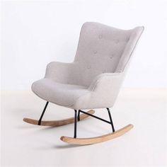 Rocking chair Mama - Beige fabric - Wood and Steel Baby Bedroom, Baby Boy Rooms, Baby Boys, Diys Room Decor, Baby Room Decor, Mama Baby, Recycled Furniture, Home Furniture, Bedroom For Girls Kids