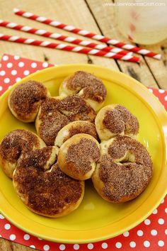 Mickey Mouse Cinnamon Pretzels