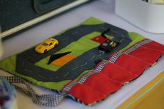 RollUp Play Mat for Cars. Little boys will love this by PepperPony