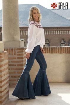 nadia comaneci iiana design premiumbrand fromromaniawithlove madeinromania perfect10 Nadia Comaneci, Bell Bottoms, Bell Bottom Jeans, Folk, Pants, How To Wear, Design, Fashion, Moda