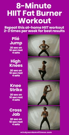 Perform this at-home high-intensity interval training (HIIT) workout to turn your body into a fat-burning machine. Boost your metabolism for fast weight loss by starting this HIIT workout today! at home HIIT HIIT cardio HIIT weightloss HIIT for be Hiit At Home, At Home Workouts, Extreme Workouts, Fast Workouts, Fitness Workouts, Workout Routines, Workout Tips, Workout Plans, Body Weight Hiit Workout