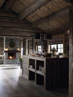 Top 60 Best Log Cabin Interior Design Ideas - Mountain Retreat Homes Home Design, Cabin Interior Design, Design Ideas, Villa Design, Wooden Cabins, Wooden House, Wooden Cottage, Rustic Cottage, Rustic Farmhouse