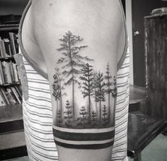 Forrest armband tattoo by Isaiah Negrete