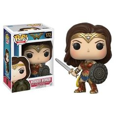 New Justice League Wonder Woman POP! This Wonder Woman vinyl figure stand at about Collect and Display all of the Justice League POPs. Funko Wonder Woman, Wonder Woman Movie, Heroes Dc Comics, Lego Dc Comics, Marvel Comics, Toy Art, Pop Vinyl Figures, Travis Barker, Pop Disney