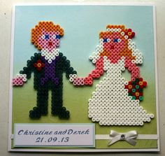 hama bead wedding card | Flickr - Photo Sharing!