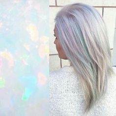Oh if I were only grey or blond, I would do this. Love it!