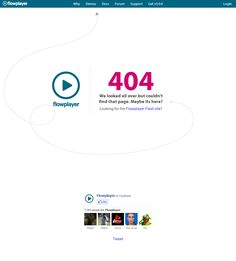 Flowplayer - 404 page Error Page, 404 Page, Chart, Map, Design, Location Map, Maps