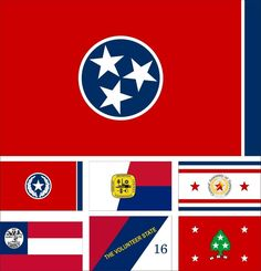 33 U.S. State Tennessee Flag 3X5Ft Historical National City Army Governor Banner