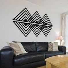 Vinilo Decorativo: Op art triangular #metalart #metal #art #rustic