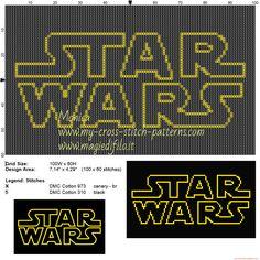 Logo Star Wars patrón punto de cruz                                                                                                                                                                                 Más