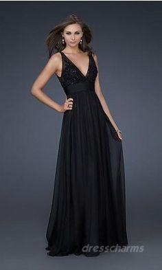 Black Slim Line Debs Dress...........