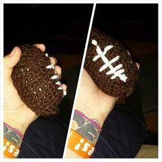 Amigurumi football hand crocheted $ 12 Alex Draven Designs on facebook and instagram