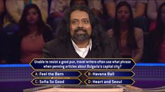 Today, some writers can't resist a good pun. Will contestant Prince Thomas identify the right pun on an all-new #MillionaireTV? What's the correct #FinalAnswer to this question? Host Terry Crews waits for Prince to respond, and big money is on the line, so don't miss Monday's all-new show. Go to www.millionairetv.com for local time and channel to watch!