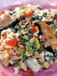 Easy Mediterranean Chicken and Spinach Rice Bake |Gluten-Free Goddess® Recipes  absolutely delish
