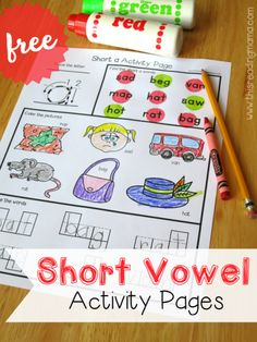 FREE Short Vowel Activity Pages - This Reading Mama
