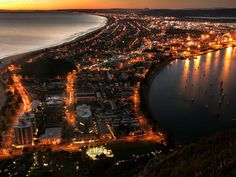 At the top of Mount Maunganui, New Zealand