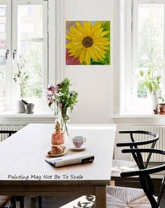 SUNFLOWER Crystal Canvas Art Painting Decorative by MiaGalleria, $59.00