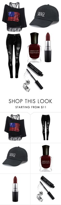 """Untitled #20"" by nightmare-sans on Polyvore featuring SO, Deborah Lippmann, MAC Cosmetics and Bobbi Brown Cosmetics"
