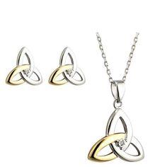 Schmuckset Ring, Ohrringe und Halskette samt Kettenanhänger | derirlandshop.de