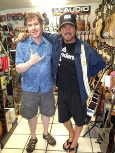 Coconut Grove Music - Kailua, Hawaii 12/30/13 Look who dropped by the store, Eddie Vedder. He did some shopping last week, and dropped by again today.