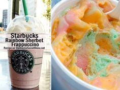 The Ultimate Collection created for Starbucks fans, by Starbucks fans! Discover new and exciting drinks concocted by Starbucks Baristas and Fanatics with Starbucks Secret Menu! Starbucks Hacks, Starbucks Secret Menu Drinks, My Starbucks, Frappuccino Recipe, Starbucks Frappuccino, Secret Menu Items, Rainbow Sherbet, Rainbow Dash, Gateaux Cake