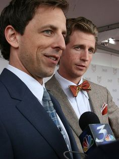 Seth and Josh Meyers Josh Meyers, Beautiful Men, Beautiful People, Celebrity Siblings, Sibling Relationships, Saturday Night Live, Attractive People, Celebs, Celebrities