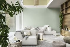 Flexa Trend Color 2020 is Tranquil Dawn Colour Futures ↓ for NL Flexa Green Color Trends, Interior Trend, High Point Furniture Market, Room, Interior, Room Colors, Interior Design, Trending Paint Colors, Dulux Colour