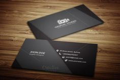 Dark & Black Exclusive Business Card by JigsawLab on @creativemarket