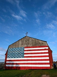 Patriotic Barns
