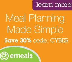 eMeals - save time, money and more!  30% off with code:  CYBER  The Confident Mom – Empowering Moms - Strengthening Families - Embracing God's Design