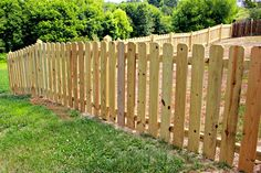 Fence Installations in NC, SC & VA | Commercial & Residential Gallery Backyard Fences, Garden Fencing, Outdoor Landscaping, Front Yard Landscaping, Outdoor Gardens, Wood Picket Fence, Wooden Fence, Stockade Fence, Dog Ear Fence