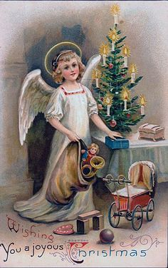Free Vintage Christmas Angel Picture - Vintage Ink Spot