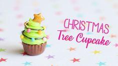 Christmas Tree Cupcake│Polymer Clay Tutorial